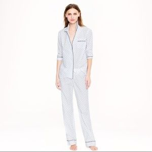 J. Crew End-on-end Pajama Pant in Swiss Dot Small